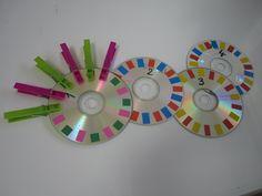 Défis individuels (Freinet) - La classe de Marion cd gommettes et pinces à linge