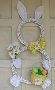 Ostern 2014 – coole Osterdeko selber basteln - ostern dekoration frisch festlich ostereier hasen küken wachtel gelb kranz