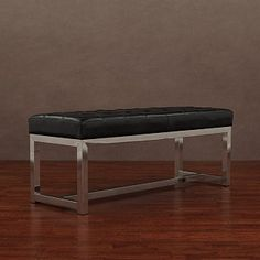 liberty black leather bench $247
