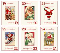 I can't believe it's almost December…where does the time go? In preparation for all the excitement of the holiday season, I've created some fun Santa cards…imagi… Christmas Journal, Christmas Tag, All Things Christmas, Vintage Christmas, Christmas Crafts, Xmas, Project Life, Advent, Christmas Window Decorations
