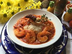 Celebrating Hispanic Heritage month with shrimp diabla made with tomato sauce, Mexican spices and TABASCO® Chipotle Sauce.