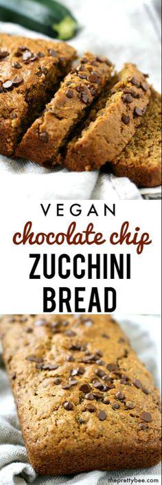 Brownie Desserts, Mini Desserts, Chocolate Chip Zucchini Bread, Dairy Free Chocolate Chips, Vegan Chocolate, Chocolate Muffins, Cake Chocolate, Delicious Chocolate, Chocolate Desserts