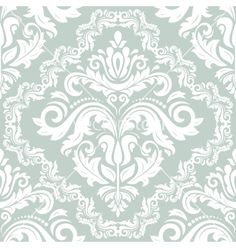 Damask seamless pattern orient background vector - by FineArtStudio on VectorStock®