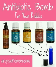 Young Living Essential Oils: Antibiotic for Children Kids Lemon, Thieves rolled down spine & bottom of feet. 4 times a day for 24 hours by janelle Essential Oils For Kids, Essential Oil Uses, Doterra Essential Oils, Natural Essential Oils, Young Living Essential Oils, Thieves Essential Oil, Yl Oils, Healing Oils, Living Essentials