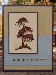 TDF 10-12 tree - Lisa Martz - really like this color combo and the layout - a good masculine card.