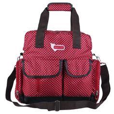 Ecosusi Diaper Backpack Diaper Bags Baby Bags Large Capacity (Red star)