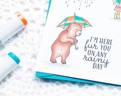 Handmade cards using stamps and markers
