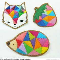 Absolutely love these -- felt brooches - Bing Images