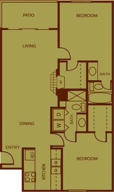 2 bedroom 2 bathroom apartment home in phoenix az 85021 for Rembrandt homes floor plans