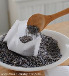 DIY Lavender Dryer Sachets via Town and Country Living