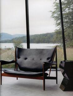 gawd I LOVE this piece! sofa/chair from interior of Highland Lodge? via markdsikes.com