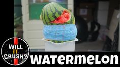 Rubber Bands vs Watermelon with Slow Motion Rubber Bands, Watermelon, Crushes, Videos