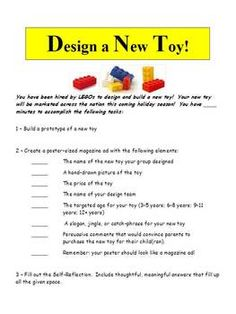 Activity: Design a New Toy with LEGOS