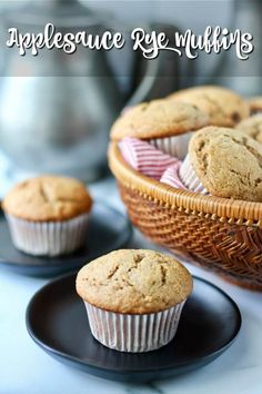 Cinnamon Applesauce Mini Banana Muffins, Raisin Muffins, Corn Dog Muffins, Applesauce Muffins, Best Muffin Recipe, Simple Muffin Recipe, Apple Recipes, Baking Recipes, Skillet Bread