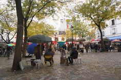 Place du Tertre in Montmartre Latin Quarter, Air France, Saint Germain, Tour Eiffel, The Neighbourhood, Chill, Two By Two, Backpack, Louvre