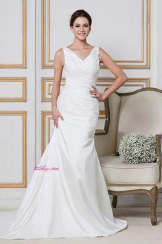 ruched wedding dress
