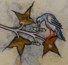 Detail from medieval manuscript, British Library Stowe MS 17 'The Maastricht Hours', f204v