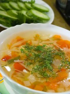 The gallbladder healing diet is a low-fat diet that includes easy to digest foods, such as soup.