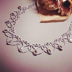 tatting#tattinglace#태팅#태팅레이스 #목걸이#necklace