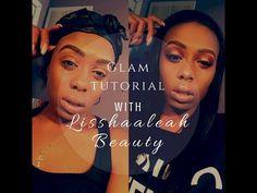 Glam Look Using Huda Beauty Obsessions Palettes | Lisshaaleah Beauty - YouTube