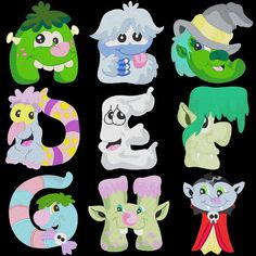 MONSTER LUV 78 Machine Embroidery Font Pack by AzEmbroideryBarn, $14.95