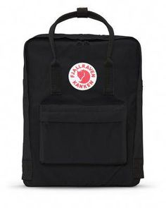 Fjallraven Kanken Backpack in Black. This Scandinavian company has produced classic go-to bags since it debuted in Perfect for school, day trips, or biking to work; the Kånken makes a lifelong c Mochila Kanken, Mochila Jansport, Mini Mochila, Jansport Backpack, Backpack Straps, Backpack Bags, Fashion Backpack, Diaper Backpack, Kanken Backpack Mini