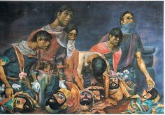 """""""Moriones Unmasked"""" by: Carlos """"Botong"""" Francisco Filipino Words, Philippine Art, Filipiniana, Artists Like, Visual Arts, Painters, Artworks, Art Pieces, Fine Art"""