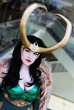 Sharing femme Loki cosplay in honor of the excellent Avengers movie hitting theaters this week