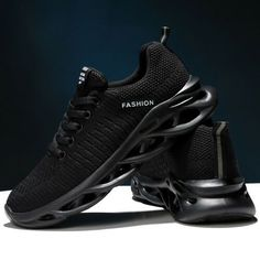 Men-039-s-Casual-Running-Shoes-Sports-Walking-Sneakers-Outdoor-Athletic-Tennis Aerobics, All Black Sneakers, Running Shoes, Tennis, Walking, Men Casual, Athletic, Sports, Outdoor