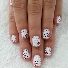 Valentine Nails maybe without the polka dots