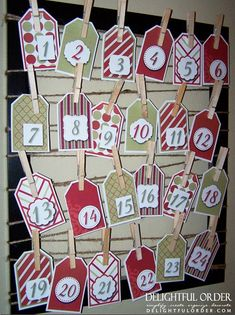 30, yes 30! advent calendar ideas with FREE printables and instructions!  Awesome!