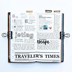WEBSTA @ mydocumentedlife - Week 14 in my traveler's notebook. Had no idea that one of my layouts was on the latest issue of the Traveler's Times!