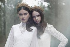 "Gold headpieces from Viktoria Novak ""The Evocative Prequel"" collection | Wedluxe Magazine #headpieces #viktorianovak"