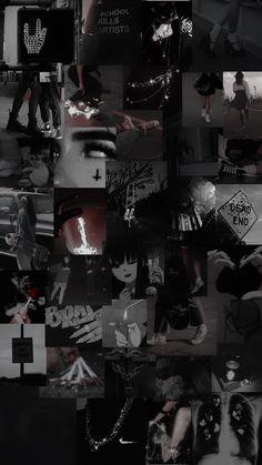 Goth Wallpaper, Cute Black Wallpaper, Black Phone Wallpaper, Trippy Wallpaper, Iphone Wallpaper Grunge, Iphone Wallpaper Tumblr Aesthetic, Iphone Background Wallpaper, Aesthetic Pastel Wallpaper, Galaxy Wallpaper