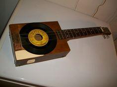 Walnut cigar box guitar Sun record Ballad of a Teenage Queen Johnny Cash pickguard! on Etsy, $50.00