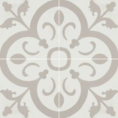 Normandy 941 A is an in stock 8x8 deco cement tile from Echo Collection.