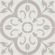 Cement Tiles - Normandy 941 A 8 x 8 Deco - By Granada Tile Retail price: Per Box of 10 =$65.80 Per Tile = $6.58 Per Square Foot = $14.81
