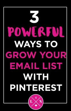 3 Powerful Ways to Grow Your Email List on Pinterest – Do you have less than 100 subscribers on your email list? If so, I have three quick and powerful ways to grow your email list using the one thing we all love best – Pinterest baby! Click here to find out how to skyrocket your email list by pinning.