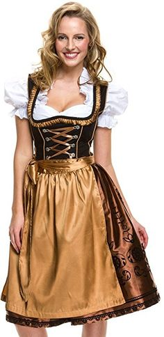 Trachtenfabrik - Vestido Dirndl - para mujer negro
