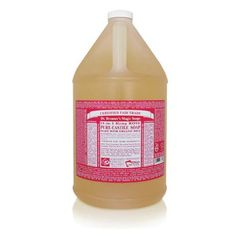 Dr Bronners Magic Soaps Liquid Castile Liquid Soap Rose 1 gal >>> For more information, visit image link.