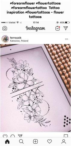 Forarm Tattoos, Dope Tattoos, New Tattoos, Sleeve Tattoos, Forearm Flower Tattoo, Flower Tattoos, Wrist Tattoo, Thigh Tat, Shoulder Tattoos For Women