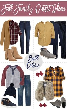 Fall Family Outfit Ideas - Bold Color & Neutral Color Options! | SandyALaMode