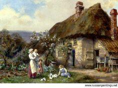 Bennett Frank Moss - 'In a Cottage Garden'
