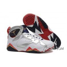 73c704cd5d8437 Air Jordan 7 Girls White Metallic Gold-Obsidian-True Red Super Deals