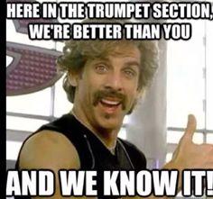 Not me jk! My band teacher always jokes around with us trumpets like this he is sooooooo funny!!!!