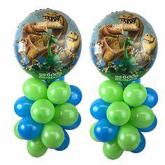 The Good Dinosaur Balloon Table Display Birthday Party - AIR FILL, NO HELIUM NEEDED! ~ 2 pack Anagram http://www.amazon.com/dp/B01AZQ2EQQ/ref=cm_sw_r_pi_dp_Pe21wb043ZDXT