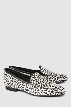0a6fc55e3d1 Buy Monochrome Spot Leather Loafers from the Next UK online shop