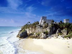 Mayan Ruins overlooking the Caribbean Sea   Tulum, what a gorgeous sight this was....