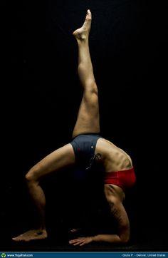 "#Yoga Poses Around the World: ""Giulia P., Full Wheel, Denver, USA."""