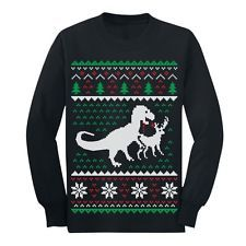Image result for bad clothes from china ebay T Rex versus reindeer christmas jumper??????????????????